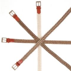 Cinturones de crin de caballo trenzados a mano
