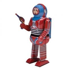 Robot de hojalata (hombre del espacio) mecanismo de cuerda.22cms.