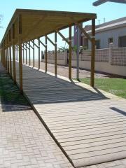 Proyectos medioambientales realizados en madera tratada en autoclave.
