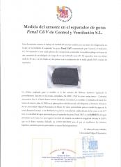 Certificado separador de gotas de alta eficiencia