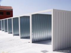 Trasteros prefabricados en acero, garajes y cocheras met�licos.