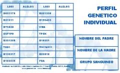 Identificaci�n de Alelos y locis- Carnet DNI Gen�tico