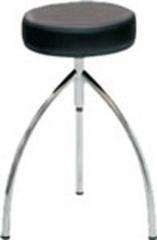Taburete cl�nico giratorio. acero cromado. regulable en altura manualmente. plato tapizado skay alta calidad. ...