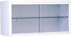 Vitrina mural. fabricada en acero esmaltado epoxi. puertas de luna corredera. estante de cristal. medidas: 70 largo ...