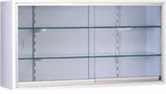 Vitrina mural. fabricada en acero esmaltado epoxi, puertas de luna corredera. dos estantes de cristal. medidas: 120 ...