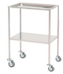 Mesa auxiliar. fabricada en acero cromado o acero inoxidable. bandeja superior extraible. entrepa�o inferior fijo ...