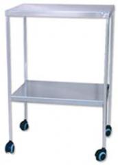 Mesa auxiliar. fabricada en acero cromado, acero esmaltado epoxi � acero inoxidable. plano superior e inferior ...