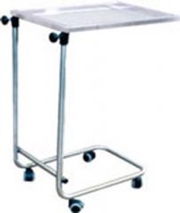 Mesa para instrumental Mod. Mayo. Fabricada en Acero Inoxidable o Acero Cromado. Bandeja extraible en Acero ...