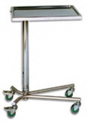 Mesa para instrumental Mod. Mayo HIDRAULICA. Fabricada en Acero Inoxidable. Bandeja extraible en Acero Inoxidable. ...