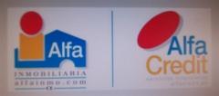 Logo de alfa inmobiliaria y alfa credit