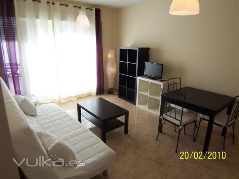 Foto salon comedor con sofa cama amueblado con mucha luz for Sofa cama para salon