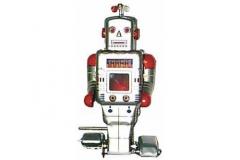 Www.juguetedehojalata.com robot de hojalata con mecanismo de cuerda