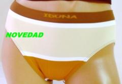 Art. 7101 bikini  s/c talle alto. mod. congo. talla: unica color cafe y gris