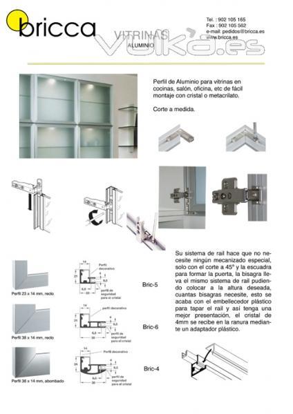 Foto vitrinas de aluminio para cocinas armarios dormitorios fabricadas a medida - Perfiles de aluminio para muebles ...