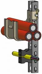 Canaletas, cazoletas y soportes para cables y tuber�as de grandes secciones - cable fix. homologado para adif