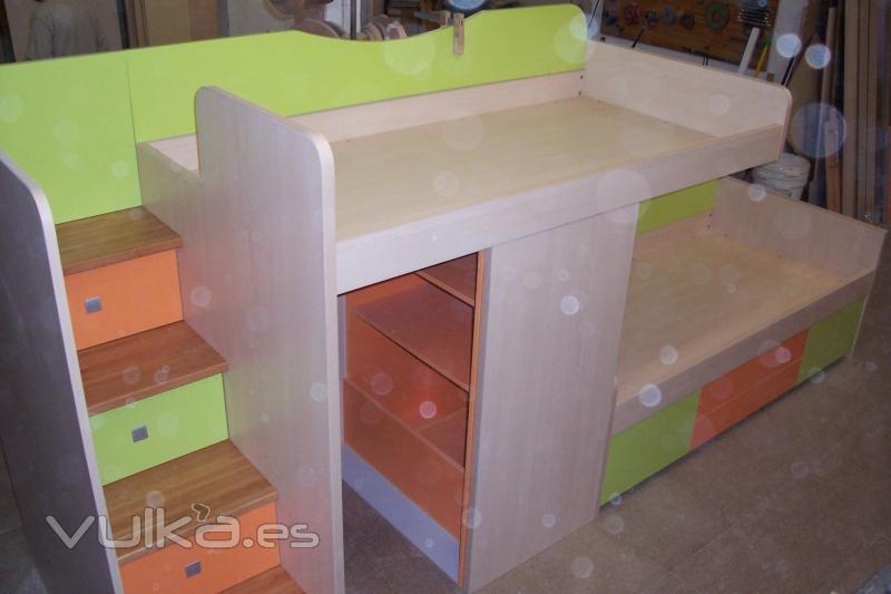 Foto muebles de habitacion infantil con escalera maciza - Muebles de habitacion infantil ...