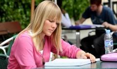 Alumna estudiando en padre rubio hall