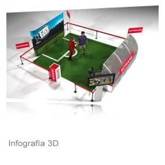 Propuesta de stand para el juego pro evolution soccer star 2010 de konam