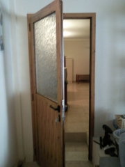 Puerta 1 hoja interior en pino nudo