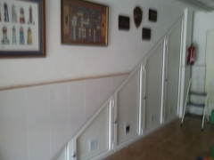 Frontal armario 4 hojas abatibles hueco escalera