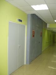 Puertas cortafuegos batiente+corredera
