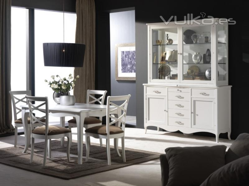 Foto comedor carla blanco roto for Muebles de comedor blancos