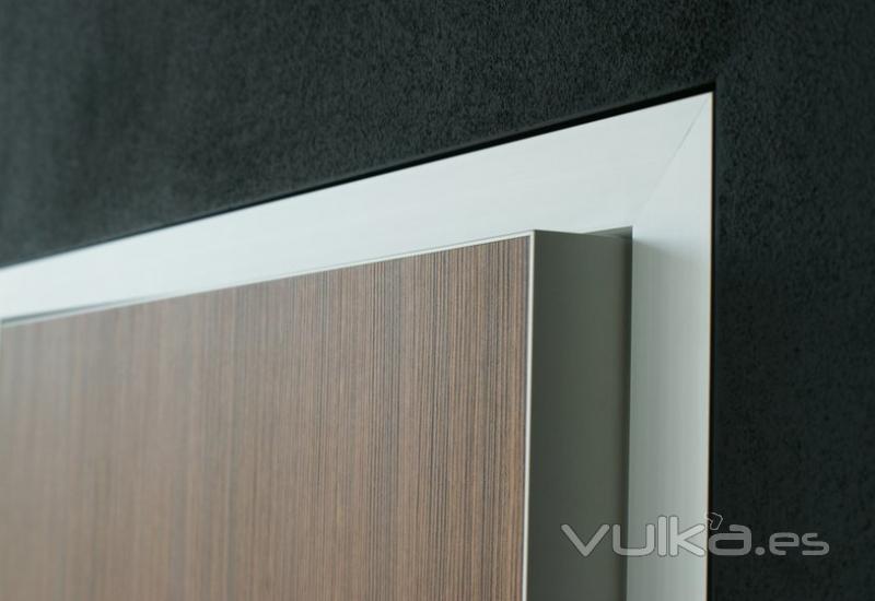 Foto cercos de aluminio hoja de puerta de madera con - Canto para madera ...