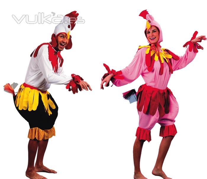 Disfraces de Gallo y Gallina