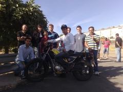 Éxito en el examen de moto