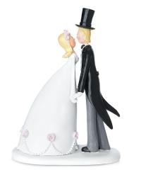 Fashion bodas - original figura para tarta nupcial
