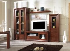 Salon modular en madera de pino macizo en crudo o barnizado