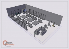 Distribución tienda 3D