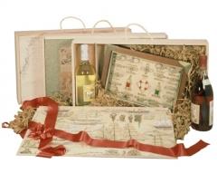 Caja regalo empresa con cuadro de nudos