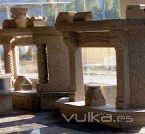 Foto chimenea de granito precio 1250 eur for Chimenea calefactora precio