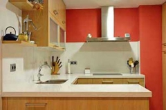 Cocina de silestone blanco norte