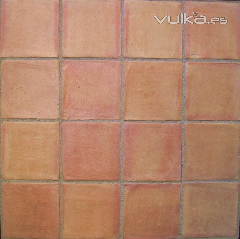 Foto baldosa de barro cocido color paja flameada manual - Piso baldosa ...