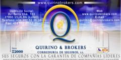 Quirino & brokers publicidad en el pabell�n municipal de deportes de vilalba como colaboraci�n con este.