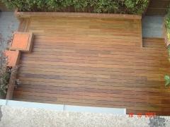 Tarima jardin en madera tropical tratada