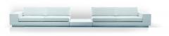 Athena: sofa basado en un sistema modular, tapizado en piel natural. varios modulos est�n disponibles para formar ...