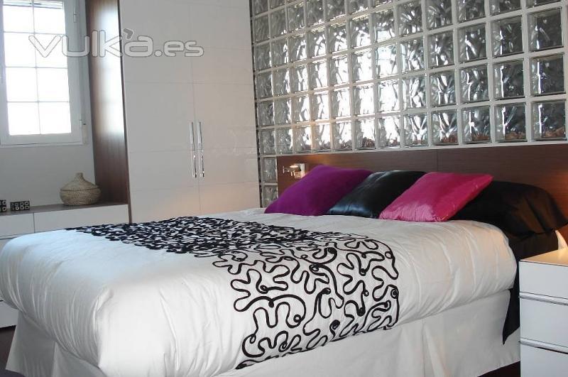 Foto pared de paves en dormitorio - Paredes de paves ...