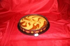 Exquisita tarta de crema catalana.