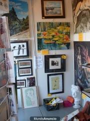 Exposici�n de cuadros y grabados originales de autores noveles, econ�micos. adquiribles en la tienda doart.