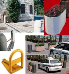 Bolardos, pilonas, barreras a cadena, jardineras m�viles, un mundo de soluciones para el control de accesos urbano.