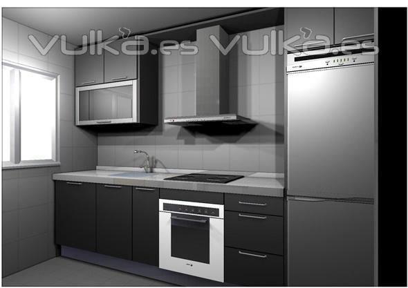 Foto guillermo y marisa mairena de aljarafe cocina for Muebles de cocina gris