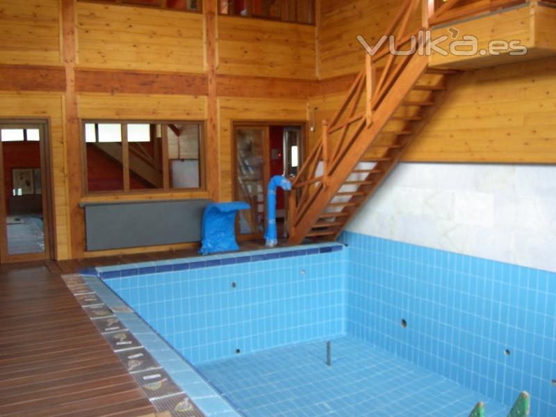 Foto piscina interior - Casa rural piscina climatizada interior ...