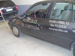 Rotulacion vehiculo de cortesia talleres cordel 2