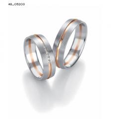 Pareja alianzas de boda alemanas en oro blanco y oro rosa con diamantes serie limitada coleccion design