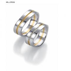 Pareja alianzas de boda alemanas en oro blanco y amarillo con diamantes serie limitada coleccion design