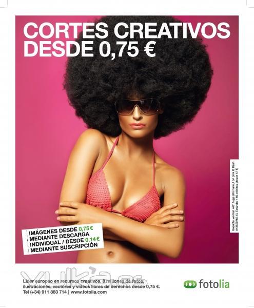 Publicidad Fotolia - Cortes creativos