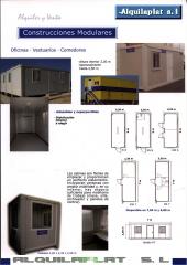 Alquiler y venta de casetas de obra, almacen y contenedores de seguridad de 6m
